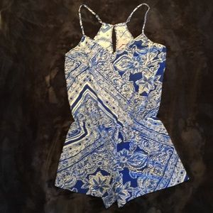 Lilly Pulitzer Romper Dusk Blue Crush Open Water